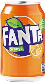 Fanta Orange blik 24 x 0,33 l