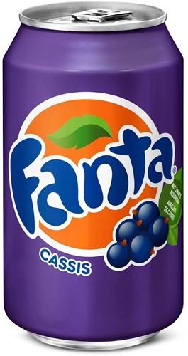 Fanta Cassis blik 24 x 0,33 l