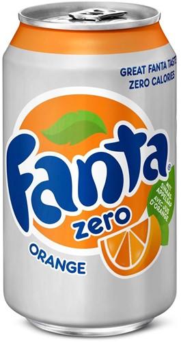 Fanta Orange Zero blik 24 x 0,33 l