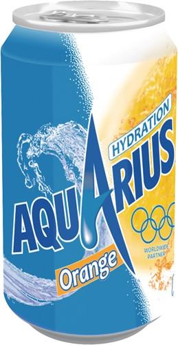 Aquarius blik 24 x 0,33 l orange