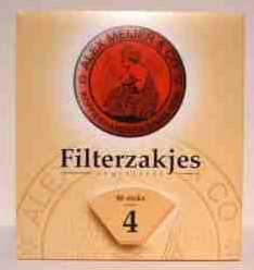 Alex Meijer Koffiefilterpapier nr. 4 6 pak 80 st