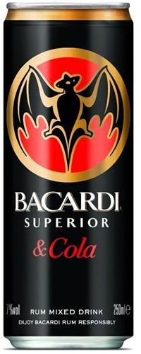 Bacardi & Cola blik 24 x 0,25 l