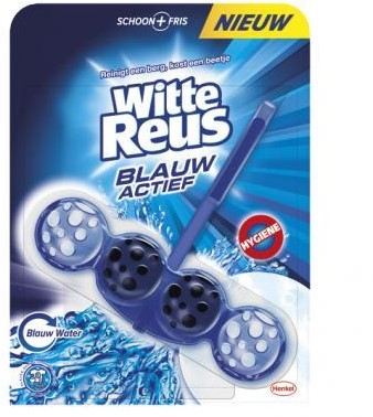 Witte Reus toiletblok houder + 3  x vulling ocean