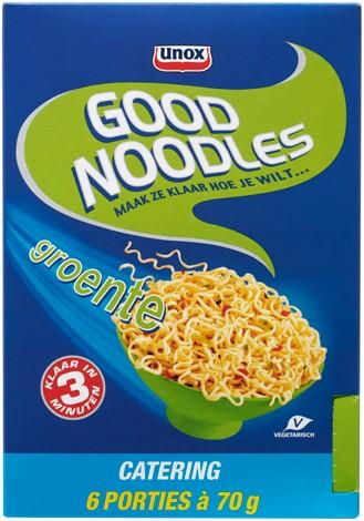 Unox good noodles groente 6 st