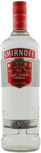 Smirnoff Vodka Red fles 1 liter