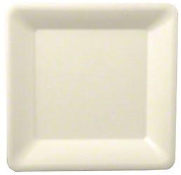 Bord vierkant pure wit 15.5 cm 50 stuks
