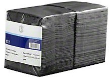 H-Line servet zwart 24 x 24 2 laags 300 stuks