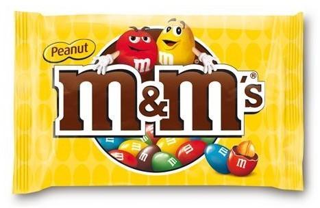 M & M's Pinda zak 24 x 45 gr