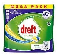 Dreft Lemon Ultra vaatwas tabs zak 100 st.
