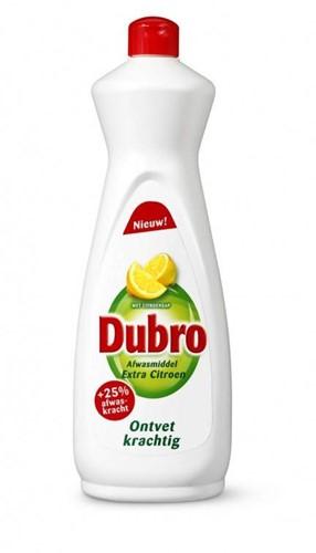Dubro afwasmiddel fles 3 x 1 l extra citroen