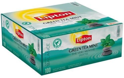 Lipton Green Tea Mint doos 100 st