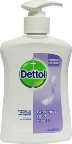 Dettol handzeep gevoelige huid fles 3 x 250 ml