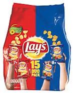 Lay's chips naturel/paprika duopack 15 st