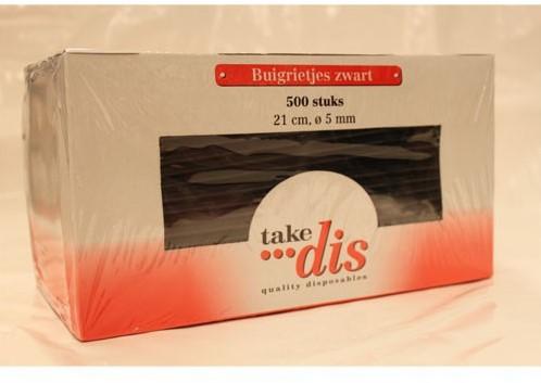 Take Dis buigrietjes 21 cm zwart 500 stuks