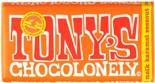 Tony's Chocolade reep 3 x 180 gr karamel zeezout