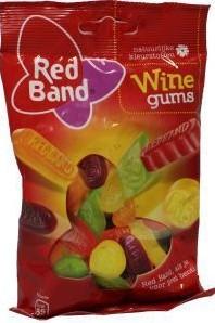 Red Band Eurolijn winegums 12 x 166 gr