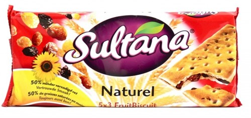 Verkade Sultana doos 24 x 3 st naturel