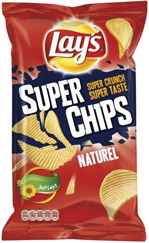 Lay's superchips naturel zak 8 x 215 gr