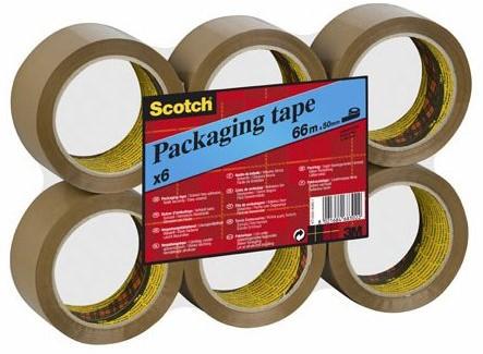 Scotch verpakkingstape bruin 6 st 50 x 60 mm