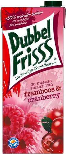 Dubbelfrisss framboos/cranberry pak 8 x 1,5 l