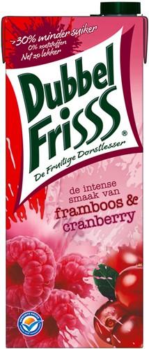 Dubbelfrisss framboos/cranberry pak tetra 8 x 1,5 l