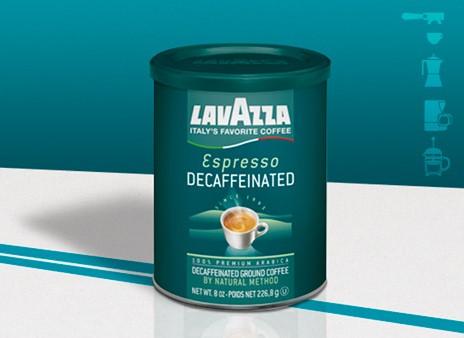 Lavazza Koffie Espresso Decafe blik 250 gr