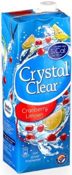 Crystal Clear cranberry-limoen doos tetra 8 x 1.5 liter