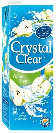 Crystal Clear appel-peer doos tetra 8 x 1.5 liter
