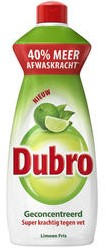 Dubro afwasmiddel fles 4 x 550 ml limoen fris