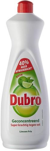 Dubro afwasmiddel fles 3 x 900 ml limoen fris