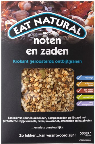 Eat Natural Ontbijtgranen Noten & Zaden 500g