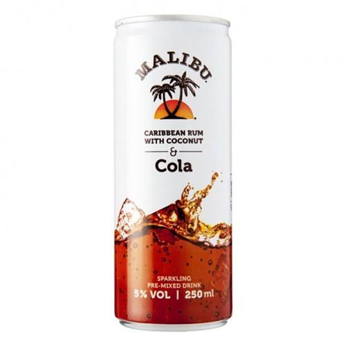 Malibu & Cola blik 12 x 0,25 l