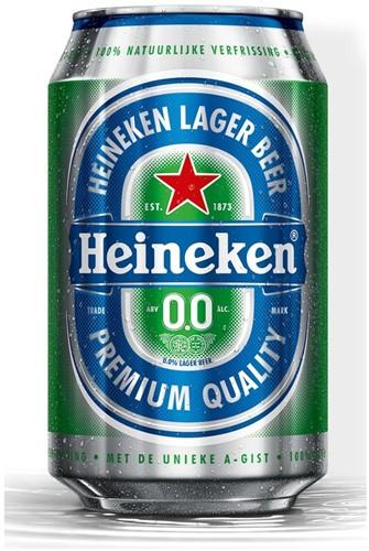Heineken 0.0 blik tray 24 x 0.33 cl