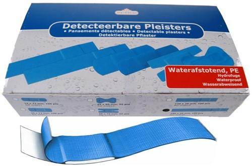 Detectiepleister blauw doos 100 st