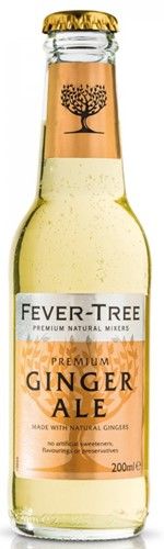 Fever Tree Premium Ginger Ale fles 24 x 0,2 l