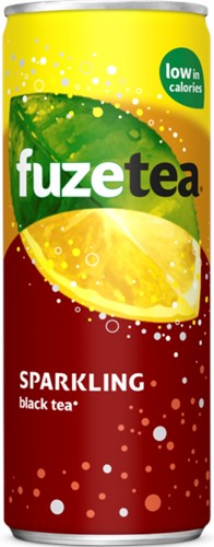 Fuze Tea Sparkling Black Tea blik 24 x 0,25 l