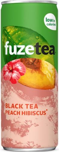 Fuze Tea Black Tea Peach Hibiscus blik 24 x 0,25 l