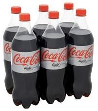 Coca Cola Light pet 6 x 1 liter