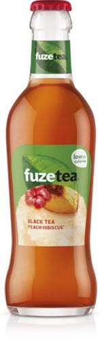 Fuze Tea Black Tea Peach Hibiscus krat 24 x 0,2 l
