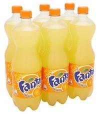 Fanta Orange 6 x 1 liter pet