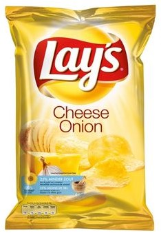 Lay's chips cheese onion 8 x 175 gr