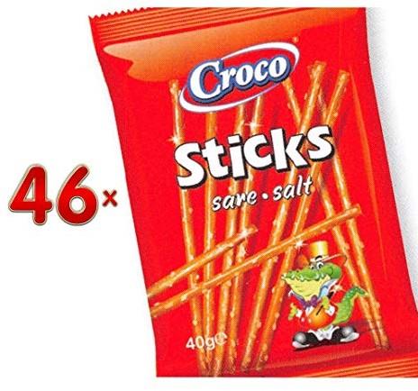 Croco zoute sticks doos 46 x 40 gr