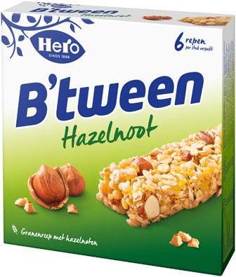 Hero B'tween Hazelnoot doos 12 x 25 gr