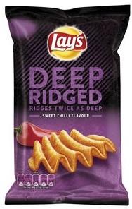 Lay's chips deep ridged American BBQ zak 9 x 147