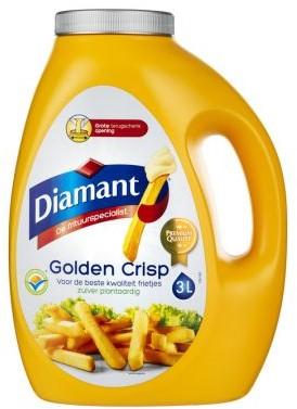 Diamant frituurvet vloeibaar golden crisp can 3 l