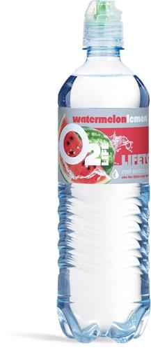 O2 life pet 6 x 0,75 l watermeloen