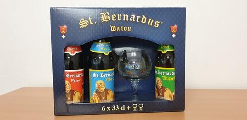 St. Bernardus bierpakket 6 flessen + 2 glazen