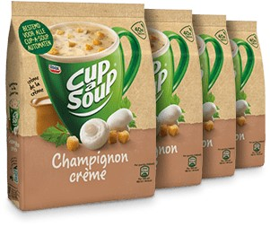Cup à Soup Vending Champigon Creme doos 4 x zak 40 portie