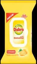 Dubro doekjes multi ontvetter citroen pak  80 st