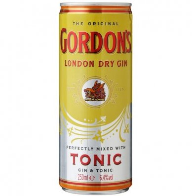 Gordon's tonic blik 12 x 0,25 l